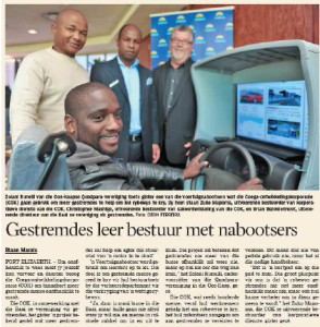 Zolani in CDC's Driving Simulator