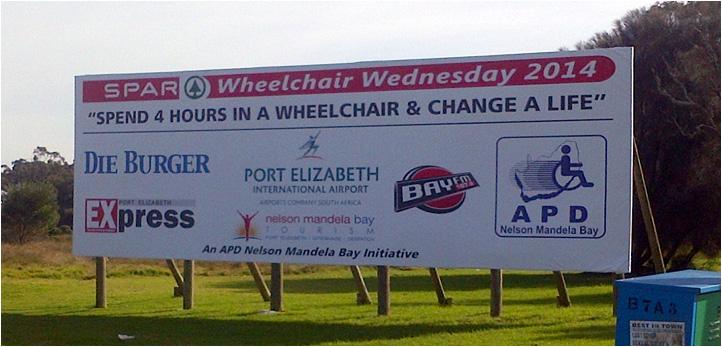 Wheelchair Wednesday 2014 Billboard (PE Airport)