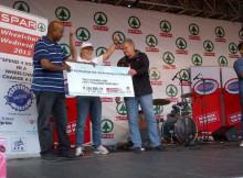 SPAR Ladies Challenge - APD Cheque Handover