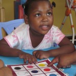 Ability Day Care Centre - Lifa using the boardmaker to learn colours