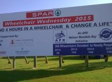 SPAR Wheelchair Wednesday 2015 Billboard - PE Airport