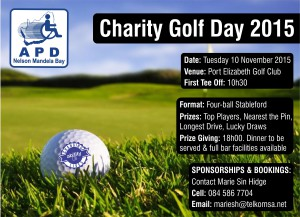 APD Nelson Mandela Bay Charity Golf Day 2015