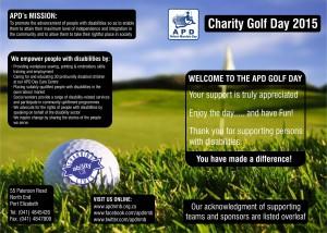 APD Golf Day 2015 - Sponsors Leaflet (Outside)
