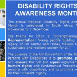 Disability Rights Awareness Month 2017 - APD Nelson Mandela Bay Staff Sensitisation Training Presentation_2