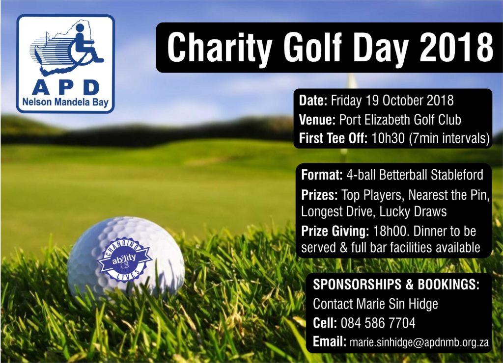 APD Nelson Mandela Bay Charity Golf Day 2018