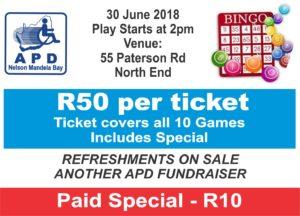 Bingo Ticket 2018
